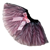 SHORT Zebra Light Pink Tutu BOW